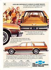 1981 Chevrolet Caprice Classic Wagon -  Classic Vintage Advertisement Ad H90