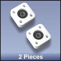 2 pcs FREE SHIPPING Compact Quality CNC 8 mm 4 Bolt square bearing block