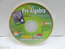 FLORIDA PRE-ALGEBRA STUDENT WORKS PLUS, CD-ROM, WINDOWS, MAC, SMART BOARD READY