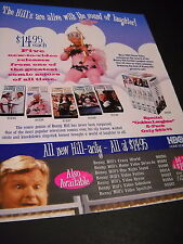 BENNY HILL in pink cupid outfit w/ bow and arrow 1997 video PROMO POSTER AD mint