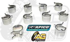 Apico Fuel Line Pipe Hose Clamp Clamps 10mm Clips x10 10 Pack Trike ATV Quad 4x4