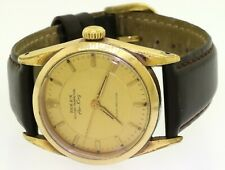 Rolex Air-King 5502 vintage 34mm gold tone automatic men's watch w/ gold dial