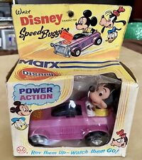 Vintage 1973 Marx Toys Disney Speed Buggies Mickey Mouse Car w Og Box Very Rare!