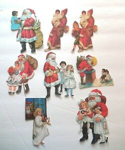 3D UPick Vintage Victorian Santa Boy Girl Christmas Scrapbook Card Embellishment