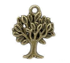 8 Pcs Antique Bronze Tree Charm Pendants 22x17mm LC1812