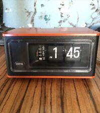 Vintage Rare 1970s Red Orange Copal Flip Clock with Alarm Rp-150