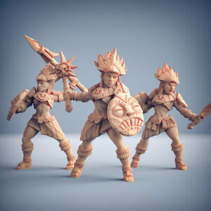 Incas Warriors Fantasy Miniature Dungeons and Dragons Role Playing Warhammer