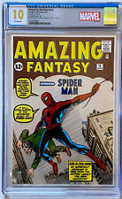 AMAZING FANTASY #15 CGC 10 GEM MINT 1ST RELEASE SILVER FOIL ONLY 1000 MADE
