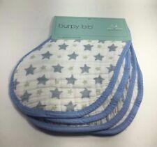 aden + anais burpy bib 2 pack, heartbreaker (Blue/White)