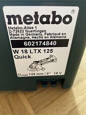 Metabo W 18 LTX 125 Winkelschleifermaschine Flex Neu