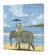 Sam Toft - On the Edge of the Sand - 40 x 50cm Canvas Print Wall Art WDC42499