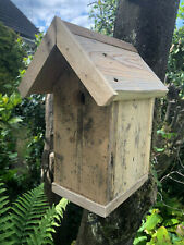 BIRD NESTING BOX, NEW, PITCHED ROOF, WOODEN, SUPERB CONSTRUCTION