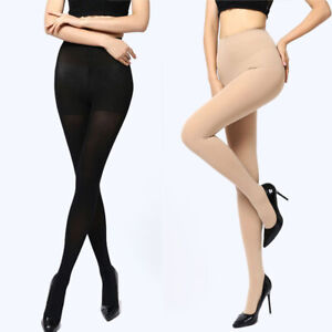 Winter Thick Socks Warm Footed Tights Women Pantyhose 150D Opaque Stockings