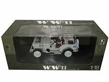 WELLY JEEP TON MILITARY U.N TRUCK WHITE 1/4 DIECAST 18036UN