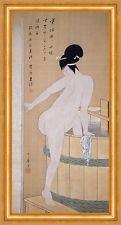 Bathing In Cold Water Kitagawa Utamaro Japan Trog Baden Wasser Nackt B A3 02765