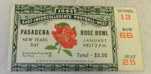 #3 Pasadena Rose Bowl Ticket January 1947 East West