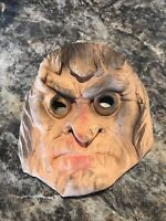 Vintage 1950's Rubber Children's HALLOWEEN MASK Bayshore Grumpy Old Man Rare