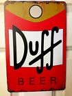 New Duff Beer Can Tin Sign Vintage Style Advertising The Simpsons Homer Man Cave
