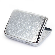 NEW Chrome Embossed Arabesques Cigarette Case holds 16 Cigarettes Made Of Brass