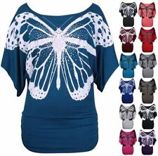 Butterfly Scoop Neck Casual Tops & Shirts for Women