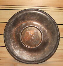 Vintage round silver plated platter tray