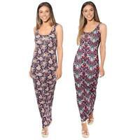 Womens Ladies Floral Bodycon Maxi Long Sun Dress Sleeveless Pattern Summer Beach