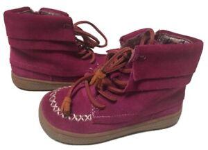 EUC Girls Shoes Short Boot Livie & Luca Dark Pink Hopper 9