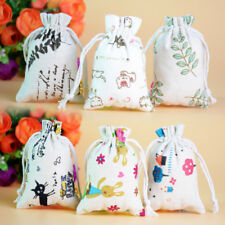50X Drawstring Jewelry Pouches Cotton Gift Bags Wedding Favors NEW SIX Style