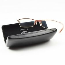 Alain Mikli Brillenfassung Glasses Frames Made France Orange Metall Modern Cool