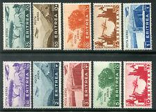1936 Colonie Eritrea soggetti africani serie 10 valori nuovi spl ** MNH