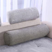 Round Bolster Zipper Closure Sofa Pillow Back Cushion Elastic Breathable Pillow
