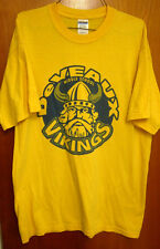 DEVEAUX Middle School mascot Vikings lrg T shirt OHIO logo tee Norseman
