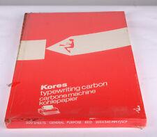 VINTAGE KORES General Purpose macchina da scrivere di Carbonio Rosso Scatola ministeriale 200 FOGLI