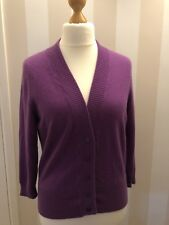 Ladies Marks & Spencer, 100% Cashmere Cardigan Size 18, Purple