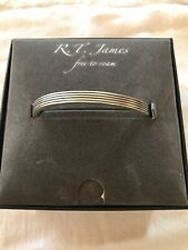Bracelet Silver One Size R.T. James Silver-Tone Etched Cuff