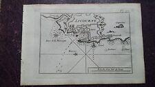 """1780 Roux Meucci: Portolano Baia di Livorno """"Livourne"""""""