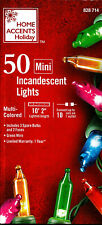 NEW Home Accents Holiday 50 CT. Mini Multi-Color Indoor/Outdoor Christmas Lights