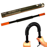 FLEXI EXERCISE BAR TWISTER GYM STRENGTH POWER CHEST WORKOUT FITNESS RESISTANCE