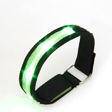 Sleek Green LED Flashing Safety Running Outdoor Sports Strap Band Reflective