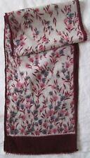 Écharpe en 100% laine  vintage Scarf  25 cm x 70 cm