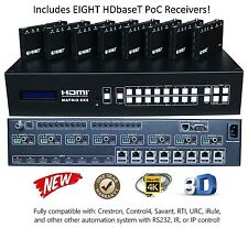 4K 8x16 HDbaseT HDMI Matrix Switcher 1080P 8x8 Crestron Control4 CAT6 UHD 16x16