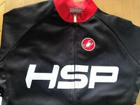 Castelli Cycling Jersey Black Womens S HSP Pro Shop Red Trim Full Zip/Pocket
