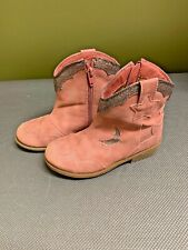 Pink & Gold Girls Cowboy Boots by Cat&Jack Size 11