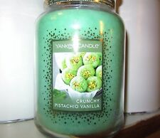 "Yankee Candle Cookie Swap ""CRUNCHY PISTACHIO VANILLA"" 22 oz ~ TAN LABEL~ NEW"