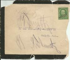 SPANISH AMERICAN WAR, CALIVO, PHILIPPINES MOURNING Army Cover OVERPRINT STAMP