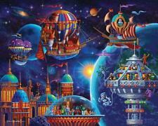 DOWDLE FOLK ART COLLECTORS JIGSAW PUZZLE SPACE ADVENTURE 500 PCS #00411