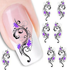Water Transfer Slide Decal Sticker Nail Art Tips Toe Decoration XF1423 Pop
