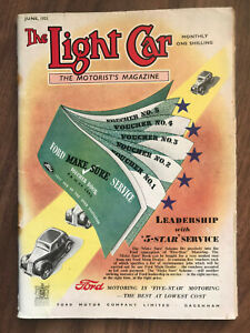 The Light Car Magazine June 1951 Ford Front Cover
