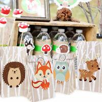 12pcs Safari Animal Candy Gift Bag Paper Sweet Packaging Bag Woodland Birthday