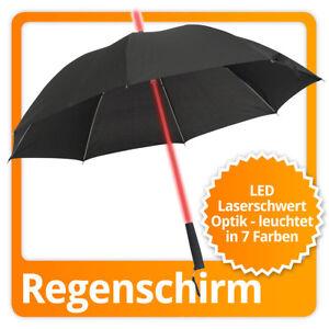 LED Regenschirm mit Farbwechsel Umbrella mit leuchtendem Griff & weißem Strahler